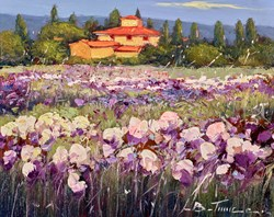 Campi di Fiori Viola II by Bruno Tinucci - Original Painting on Stretched Canvas sized 12x9 inches. Available from Whitewall Galleries